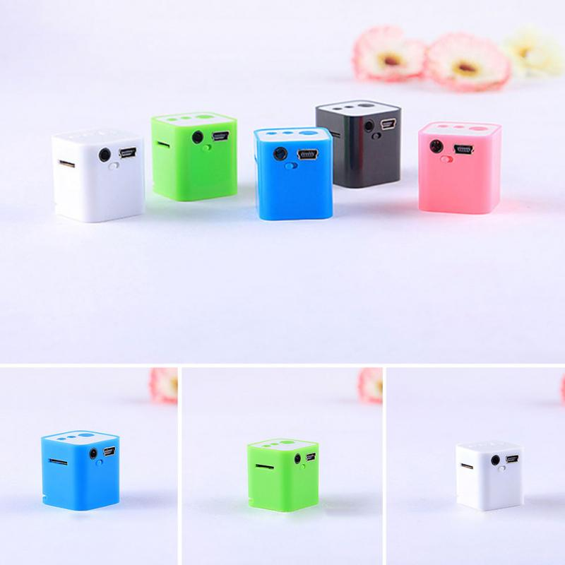 2017 MP3 Player USB Clip Min Support Micro TF Card Extroverted Speakers White Pink Green Blue Black(China)