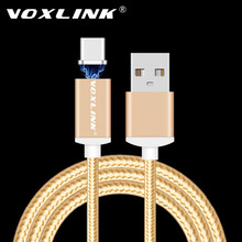 VOXLINK Magnetic USB Type C Cable 2.4A Fast Charging Magnetic Type-C USB-C Cable Adapter For Google Nexus 6P/5X/Pixel/Pixel XL(China)