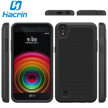 Hacrin Phone Platsic Case Heavy Hybrid TPU+PC Rugged Shockproof Protective football Pattern Cover for LG X Power K220 K220DS(China)
