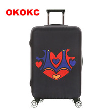 OKOKC Colorful Heart Thickest Luggage Protective Covers Elastic Trolley Travel Suitcase Bags Dust for 18-32'' Travel Accessories(China)