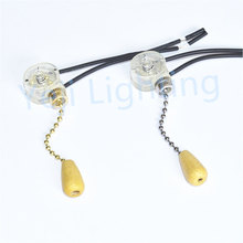 Lamp Zipper Switch Pull Ceiling Light ceiling fan Wall Lamp Switchs with 100mm / 200mm Rope chain lighting accessories diy 2pcs