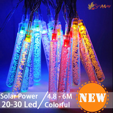 ourdoor garden Home decor Solar power LED Christmas Xmas String Light Decoration Snow Fall Tube Led Raining Meteor Tube Light