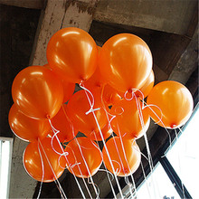 1.5g Orange Latex Balloons Children's Party Decoration Inflatable Balls For Holidays Wedding Balloons Baby Shower Latex Ballons(China)
