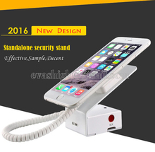 10xMobile cell metal phone high security stand display system burglar alarm holder  loss prevention anti-theft white with cable