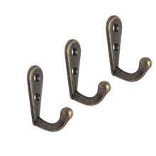 10x Wall Door Vintage Antique Hooks For Clothes Coat Hat Bag Towel Bath Hanger