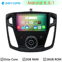"9"" 1024X600 Octa Eight Core Android 6.0.1 Car DVD Player Radio For Ford Focus 3 2013 2014 2015 GPS Navigation Stereo BT System"