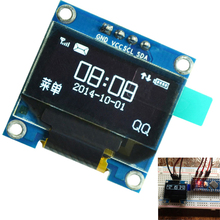 "0.96 inch IIC Serial White OLED Display Module 128X64 I2C SSD1306 12864 LCD Screen Board GND VCC SCL SDA 0.96"" for Arduino(China)"