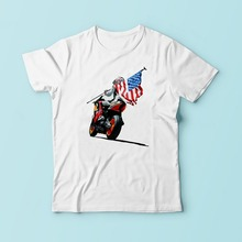 MOTOGP 69 Nicky Hayden t shirt men white Casual comfortable plus size tshirt homme MOTO GP print TEE Shirt(China)