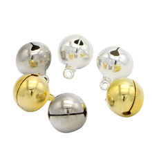 Lucia Crafts 10pcs/lot 14mm Jingle Bells Hanging Christmas Tree Ornaments Christmas Decorations 046011001(China)