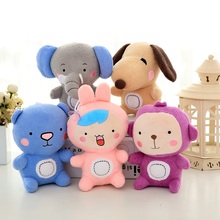 2017 New Forest Brother Animal Dog Elephant Bear Rabbit Monkey Plush Toy 18cm Cute 5pcs/lot Wholesale High Quality Lovely Gift
