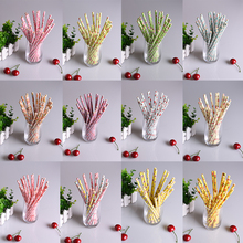 100pcs/lot  Mixed 11 Colors Retro Vintage Paper Drinking Straws  Vintage Flower Floral Birthday Wedding Party Prom Paper Straws