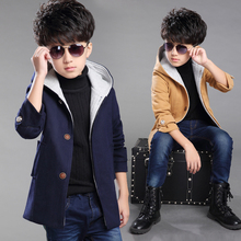 Boys Trench Coat Autumn 2017 Children Long Coat Kids Blazer Cotton Outerwear Jackets Teenage boys Clothing Fashion Outwear