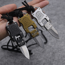 Mini Keychain Fixed Blade Knife 420 Blade Tactical Combat Survival Neck Knives tea Knife Outdoor Survival Camp Pocket Knives(China)