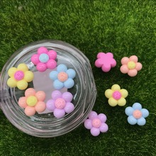 10pcs/lot flat back resin small Flower Child's head ornament mix colors DIY resin cabochons accessories 18mm(China)