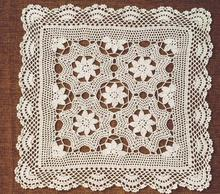 NEW Cotton Crochet tablecloth Table cloth towel doilies square lace handmade Table Covers flowers placemats for wedding decor