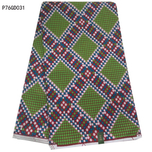 2017 Fashion Green/Wine Red Plaid Design African wax Fabric/Real Wax woodin wax Prints Fabric Textile 6 Yds for dresses P76GD031