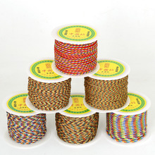 New Product 2mm 3mm 4mm Five Colored lines 56 45 25yard/roll Beading String Nylon thread For DIY Jewelry Bracelet/ Necklace(China)
