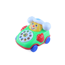 1 Pcs Funny Music Cartoon Phone Baby Toys Cute Music Car Educational Developmental Kids Toy Gift Wholesale(China)