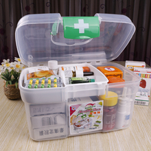 free shipping Pyxides multi-layer Small first aid kit multifunctional medicine box(China)