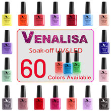 Venalisa High Margin Soak Off UV/LED  60 Colors 7.5ml Nail Polish Gel