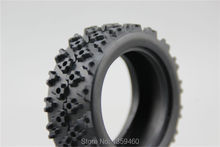 4pcs RC Model Car 1/10 Rubber Tires Tyre Rally Tire fits for 1:10 Touring Car 1/10 Tire 21105(China)