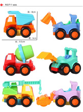 Inertial variety of toy cars cartoon construction truck toy truck Boy gift small toy car toy safety 6 Set(China)