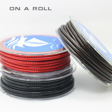3 meters/piece 3MM diameter Waxed Thread Polyester Cord String Strap Wholesale Necklace Rope Bead NO.16~27