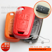 Genuine Leather Car key case for Buick Encore Hideo  XT GT Key Holder Bags Keychain With Key Rings
