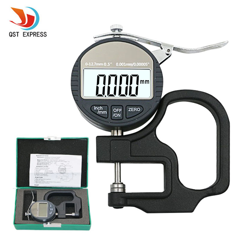 0.001mm Electronic Thickness Gauge 10mm Digital Micrometer Thickness Meter Micrometro Thickness Tester With RS232 Data Output <br>
