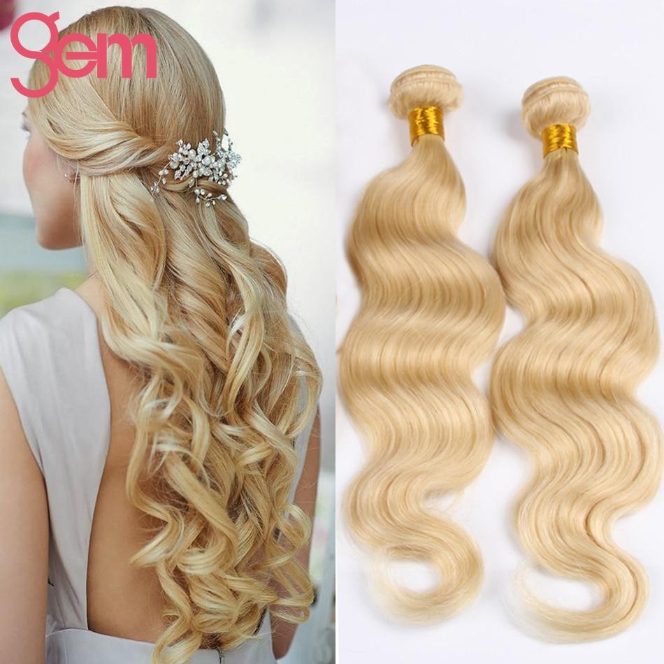 Platinum Blonde Body Wave 3 Bundles Hair Brazilian Virgin Human Hair Weave Extensions 613 Honey Blonde Soft Body Wave Remy Hair<br><br>Aliexpress