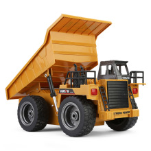 2017 educational rc TOYS 1540 1:12 Engineering Vehicle 2.4G 6CH Alloy Version Dump Truck Construction remote control truck Toy(China)