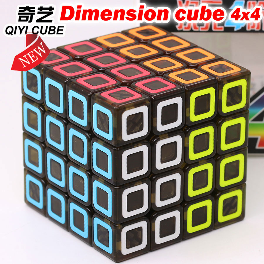 Magic cube puzzle QiYi 4x4x4 Dimension 4*4*4 444 easy logic game speed pocket professional speed cube educational toys gift