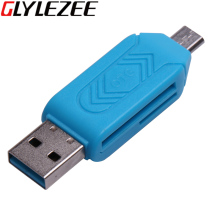 Glylezee 2 in 1 Cellphone OTG Card Reader Adapter with Micro USB TF/SD Card Port Phone Extension Headers