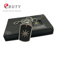 Energy Pendant Rectangle Quantum Lava Stone Energy Pendants Charms With CZ Crystal 4 in 1 Energy Ball FIR Germanium Magnet Anion(China)
