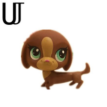 Original 1pc quality sweet Coffee big headed dog cute toys Lovely Pet shop animal action figure littlest doll toys 2270(China)