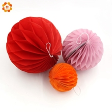 1pcs/lot8inch20cm Tissue Paper Lantern Honeycomb Balls for Home Wedding Party Decoration Event & Party Supplies
