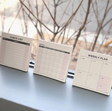 1 x Desk Memo Pad Check List Monthly Weekly Planner Schedule To Do List Note Pad