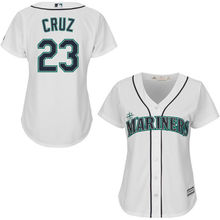 MLB Women's Seattle Mariners Nelson Cruz White Home Cool Base Player Jersey(China)