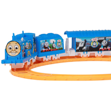 1 Set Funny Electric 3 Parts Thomas Train and 8 Parts Railway Track Slot Running Children's Favorite Family Toys
