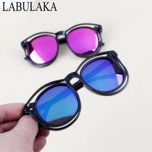 LABULAKA 2017 New Kids Children Sunglasses Double Frame Hollow Design Sun glasses For Boys Girls Colorful Reflective Baby Goggle