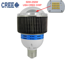10pcs E27/E40 100W CREE LED High Bay light led Lamp AC 85-265V 3 years warranty LED Industrial Lighting lamp Free shipping