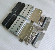 Free Shipping N&B a set 12 holes LP guitar pickup kits Nickel silver pickup cover and baseplate