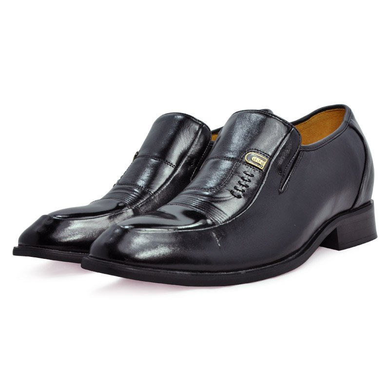 8125 -100%Real Oxhide Men Dress Loafer Office Boss Wearing Gentry Elegant Style Black Leather Shoes height increase taller 7CM<br><br>Aliexpress