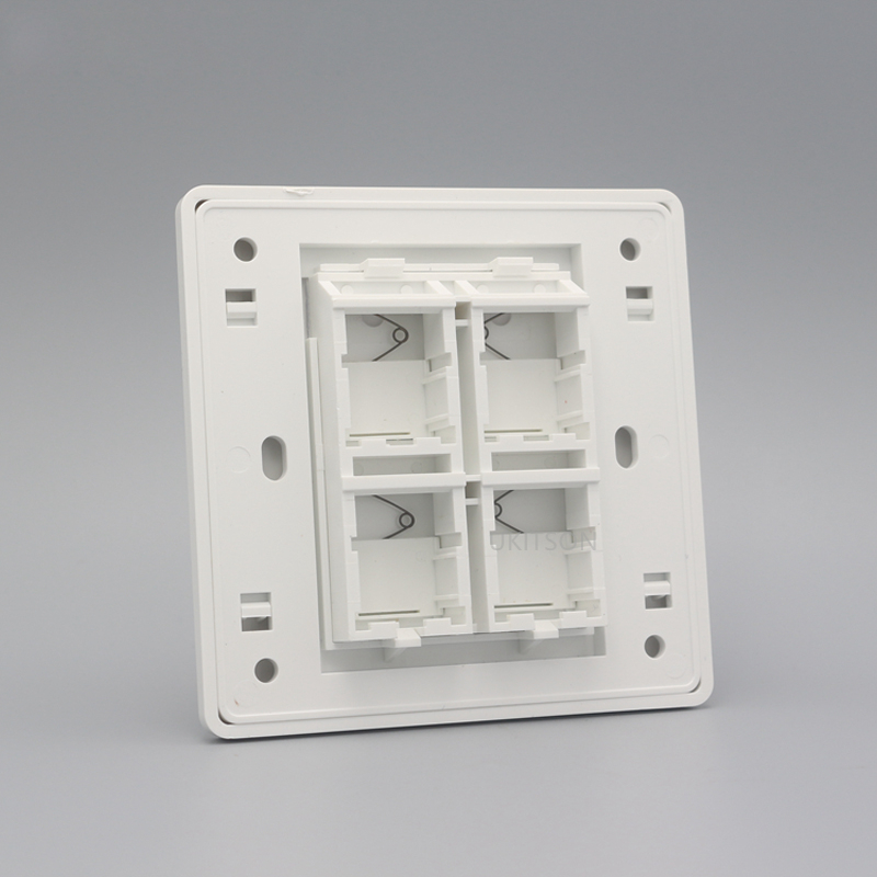 Four Ports Blank Wall Outlet Panel pic 3