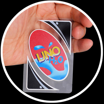 MAKIMAMA 108pcs PVC Funny Transparent Waterproof Uno Game