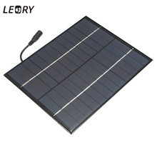 LEORY 12V 5.2W Mini Solar Panel Polycrystalline Solar Cells Silicon Epoxy Solar DIY Module System Battery Charger + DC output