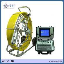 512hz sonde PT pipe camera inspection equipment 80 mtrs fiber optic push rod cameras with Roller skid for pipeline inspection(China)