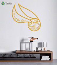 Harry Potter Wall Sticker The Golden Snitch Pattern Wall Decal Hogwarts Removable Home Decoration Accessories Kids Room SY236(China)