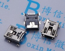 20pcs Mini USB connector SMD USB Data interface 5PIN 5 needle mini Micro usb socket Free shipping(Hong Kong)