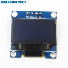 "Buy 5PCS Yellow Blue 0.96"" IIC I2C 128X64 OLED Display Module /M32 arduino lcd for $17.10 in AliExpress store"
